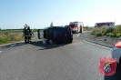 Einsatz Nr.53/2013: Auto kippt im Kreisverkehr um